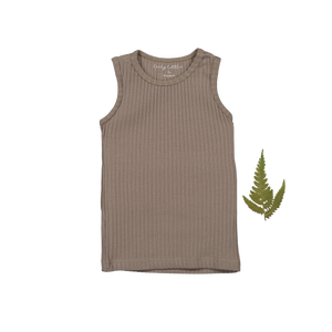 The Ribbed Tank /Taupe