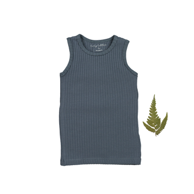The Ribbed Tank /Midnight Blue