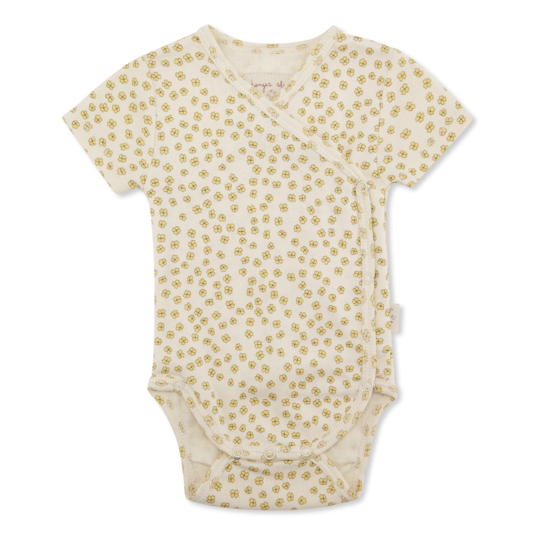 NEW BORN BODY SHORT SLEEVE /BUTTERCUP YELLOW