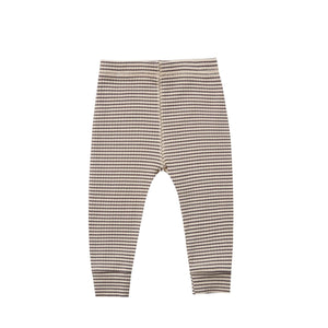 RIBBED LEGGING / CHARCOAL-STRIPE