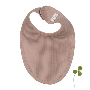 The Ribbed Bib/ Mauve