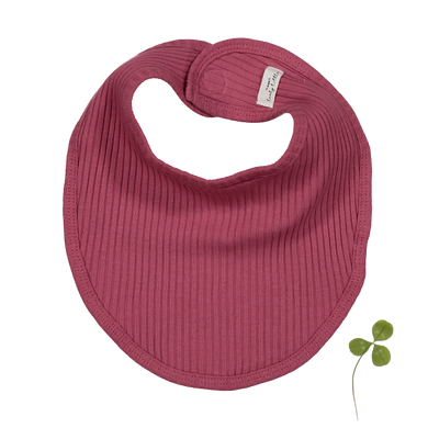 The Ribbed Bib/ Raspberry