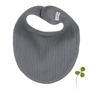 The Ribbed Bib/ Slate