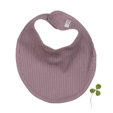 The Ribbed Bib /Violet