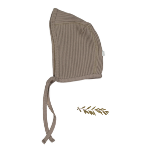 The Ribbed Bonnet /Taupe