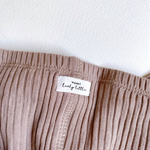 The Ribbed Leggings /Taupe