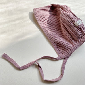 The Ribbed Bonnet /Violet