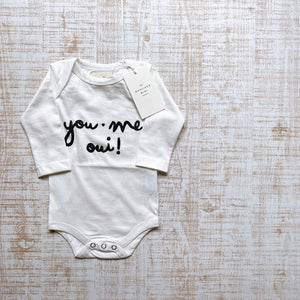 "Onesie, ""YOU, ME, OUI"""