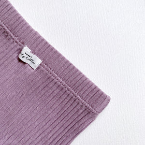 The Ribbed Bloomer /Violet