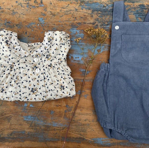 Whitby romper - blue corduroy