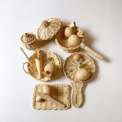 Rattan Cooking Set