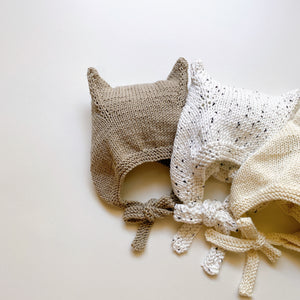 Kitty bonnet light/ Beige