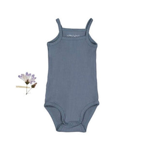 【ラスト1点】The Ribbed Tank Onesie /Midnight Blue