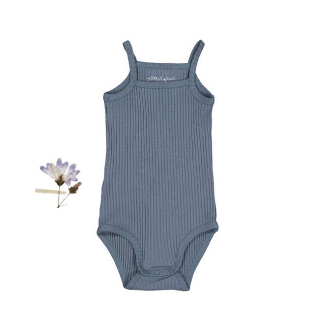 The Ribbed Tank Onesie /Midnight Blue