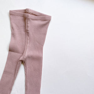 【ラスト1点】The Ribbed Leggings /Mauve