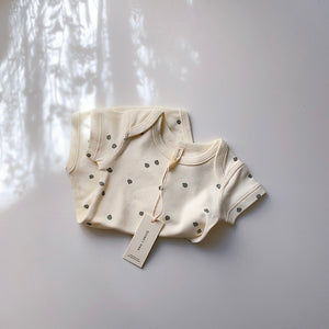 SHORT SLEEVE ONEPIECE / IVORY
