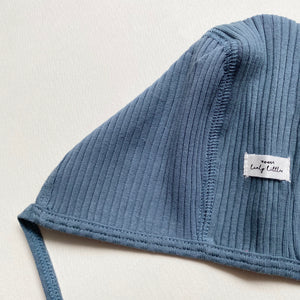 The Ribbed Bonnet /Midnight Blue
