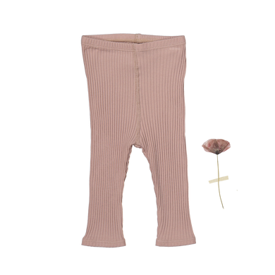 The Ribbed Leggings /Mauve