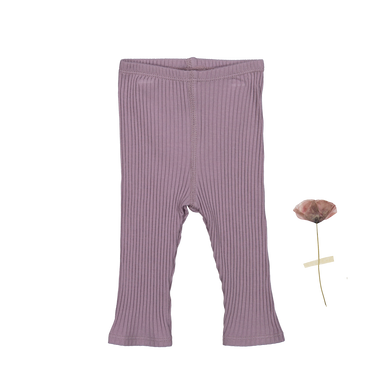 The Ribbed Leggings /Violet