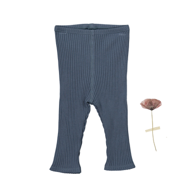 The Ribbed Leggings /Midnight Blue