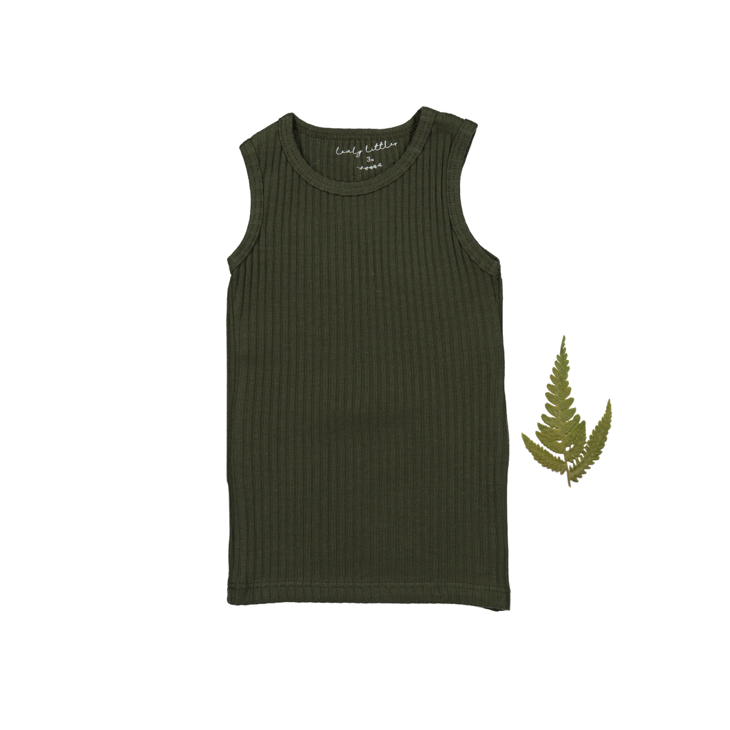 The Ribbed Tank /Moss