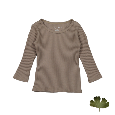 The Ribbed Tee /Taupe