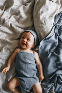 The Ribbed Tank Onesie /Taupe