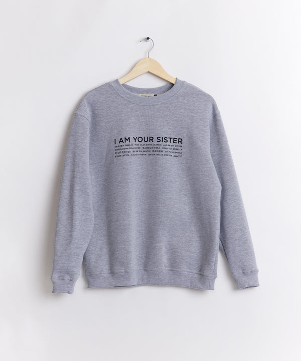 GREY LANGUAGE SWEATSHIRT