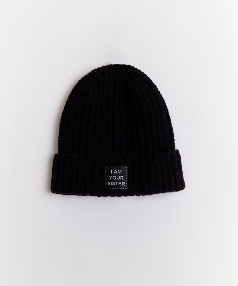 KNITTED SISTER BEANIE