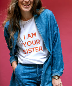 T-shirt - I am your Sister - Orange Print