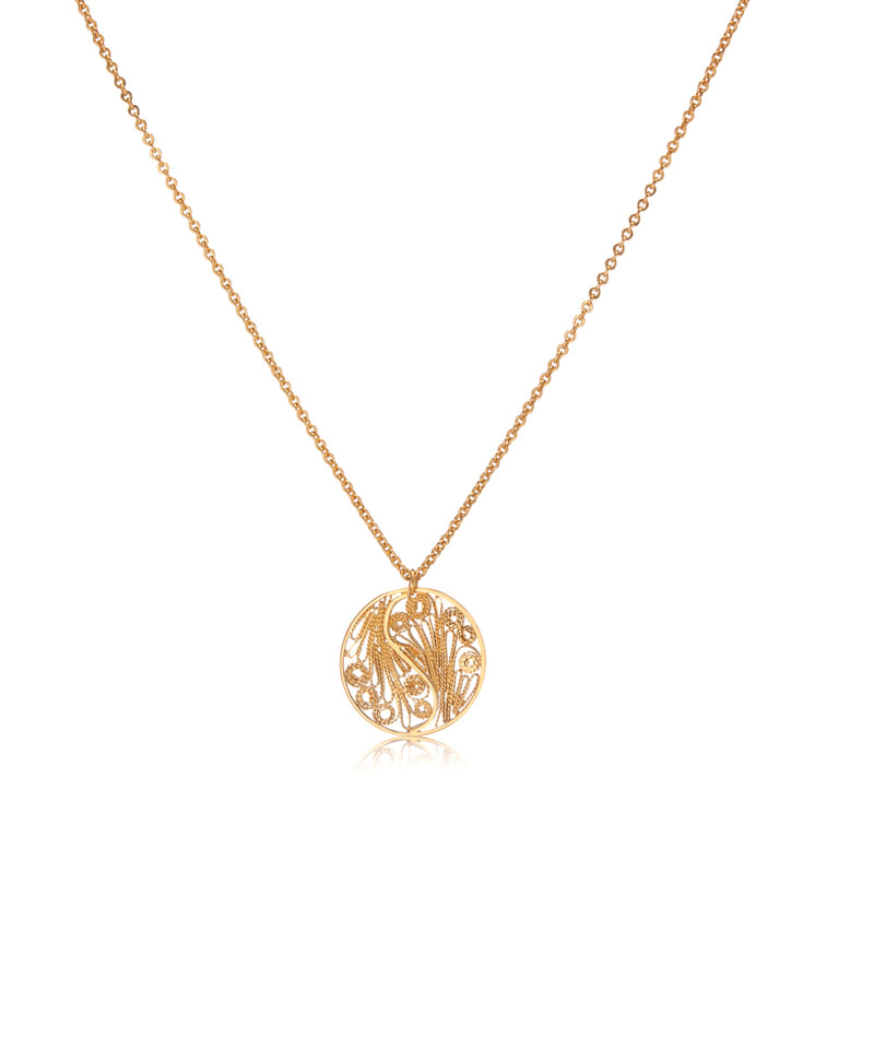 Small Circle Gold Necklace