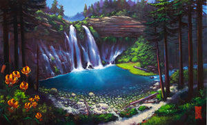 """Burney Falls"" Canvas Print"