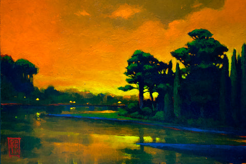 """Cad Orange Skies"" Canvas Print"