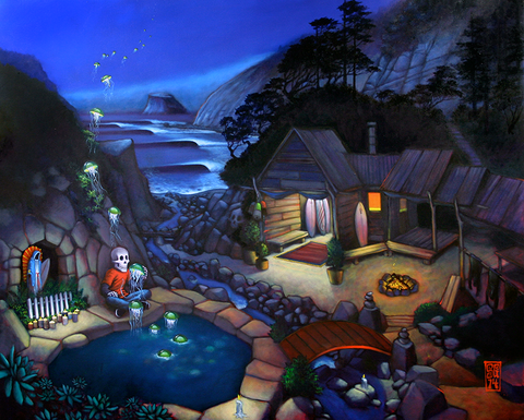 """Jelly Pond Outpost"" Canvas Print"