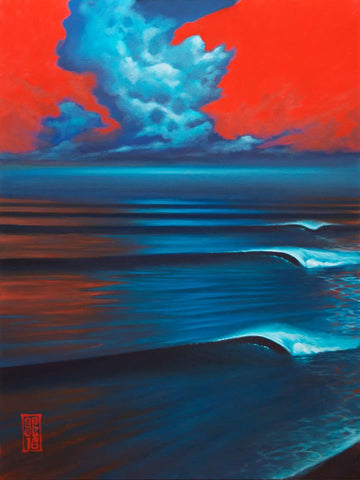 Red Sky Lines Giclee print - Redeye Laboratories