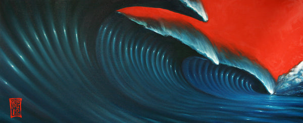 Red Sky Wave 3 (original painting)