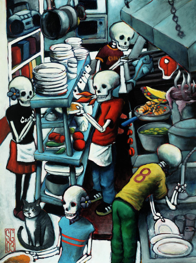 Skeleton Crew Giclee print - Redeye Laboratories
