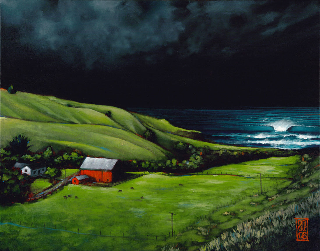 Storm Surf @ the Ranch - Paper Print Giclee print - Redeye Laboratories