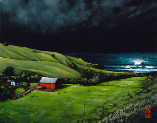 Storm Surf @ the Ranch Giclee print - Redeye Laboratories