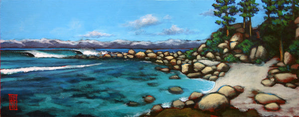 Tahoe Surf 1 (original painting) Painting - Redeye Laboratories