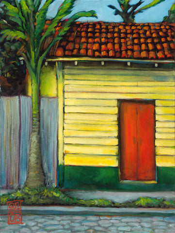 Yellow House, Red Door Giclee print - Redeye Laboratories