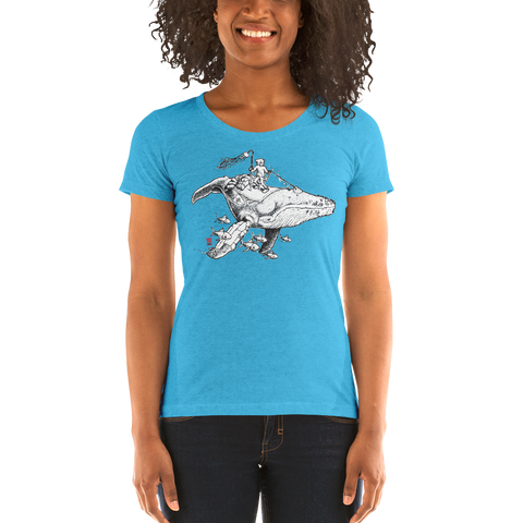 """Cosmic Traveler"" Ladies' short sleeve t-shirt  - Redeye Laboratories"