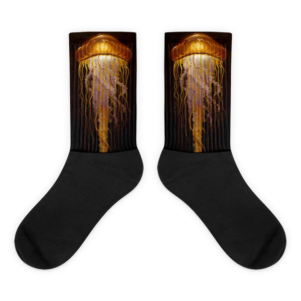 Amber Jelly Black foot socks  - Redeye Laboratories