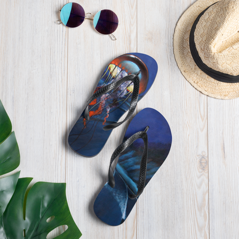 """Cosmic Jelly"" Flip Flops  - Redeye Laboratories"