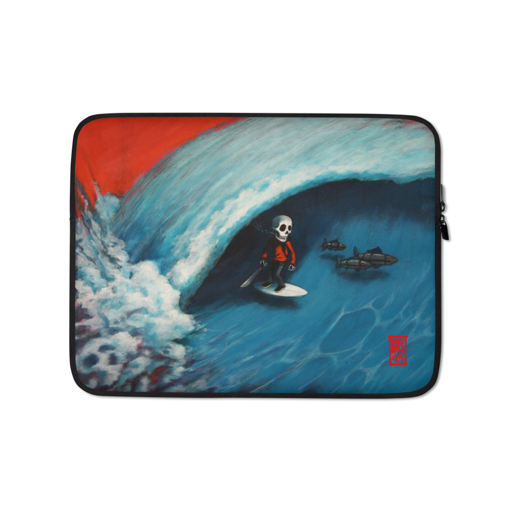 """Walking the Fish"" Laptop Sleeve  - Redeye Laboratories"