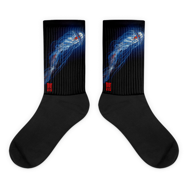 Blue Jelly Red Heart Socks  - Redeye Laboratories