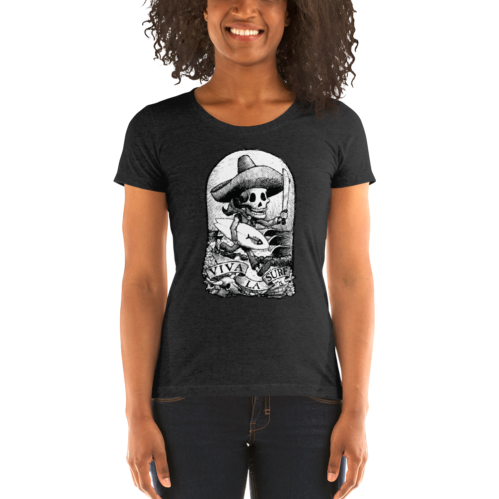 """Viva La Surf"" Ladies' short sleeve t-shirt  - Redeye Laboratories"