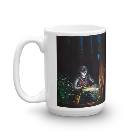 Graham's Piece - Skeleton Lumberjack Mug mug - Redeye Laboratories
