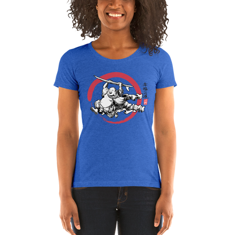 """Surfing Buddha"" Ladies' short sleeve t-shirt  - Redeye Laboratories"