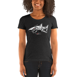 """Robo Shark"" Ladies' short sleeve t-shirt  - Redeye Laboratories"